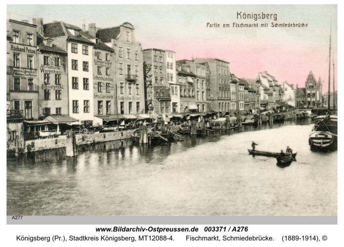 Königsberg, Fischmarkt, Schmiedebrücke