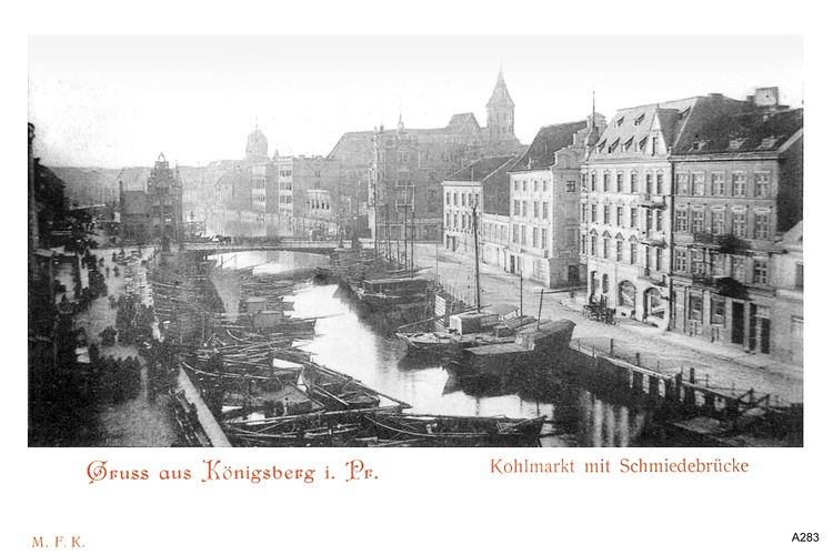 Königsberg, Kohlmarkt, Schmiedebrücke