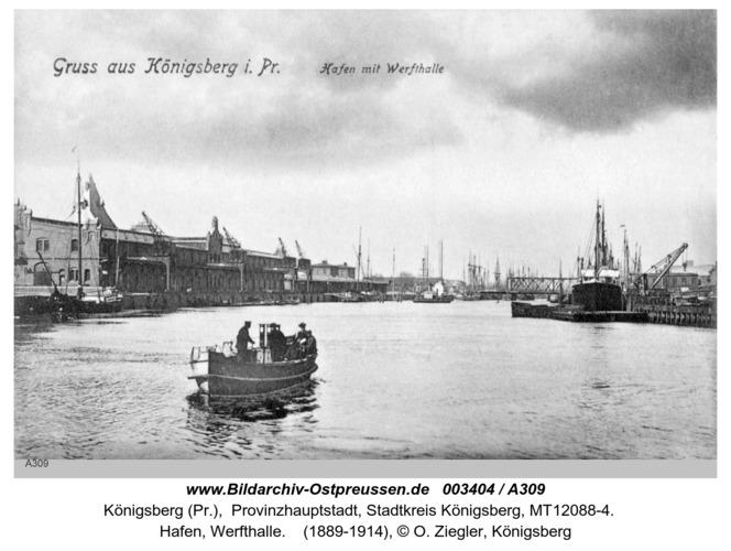 Königsberg, Hafen, Werfthalle