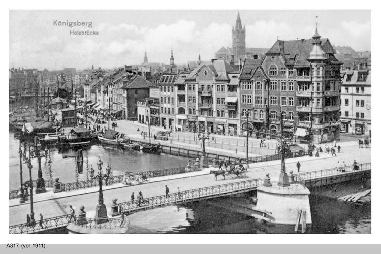 Königsberg, Holzbrücke