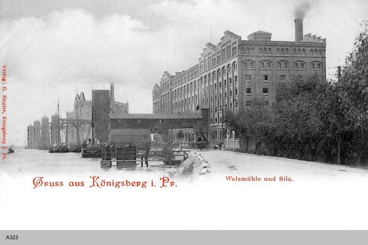 Königsberg, Walzmühle und Silo