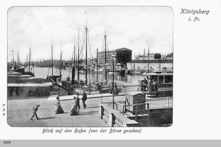 Königsberg, Blick auf den Hafen