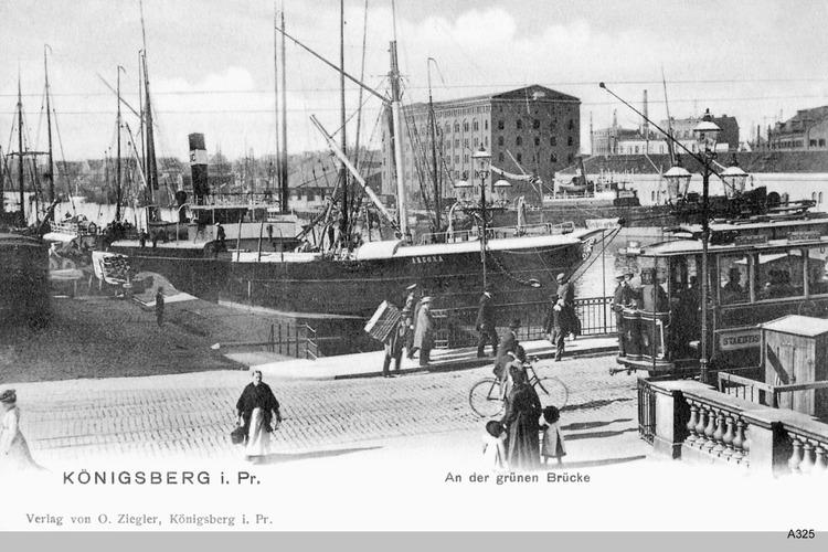 Königsberg, Königsberg, Blick von der Börse auf die Grüne Brücke