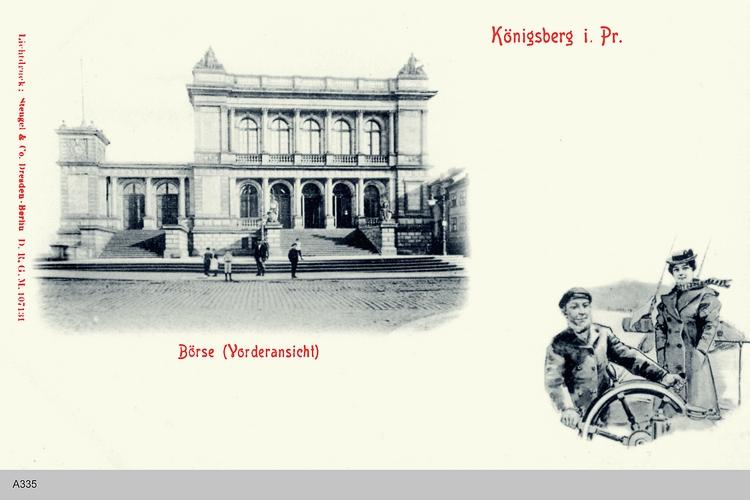 Königsberg, Vorderansicht Börse