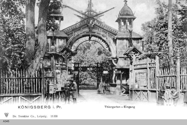 Königsberg, Tiergarten Eingang