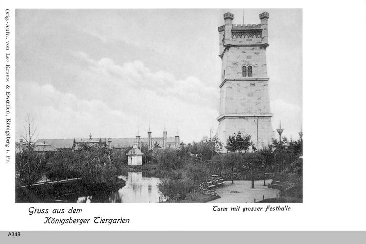 Königsberg, Tiergarten mit Aussichtsturm