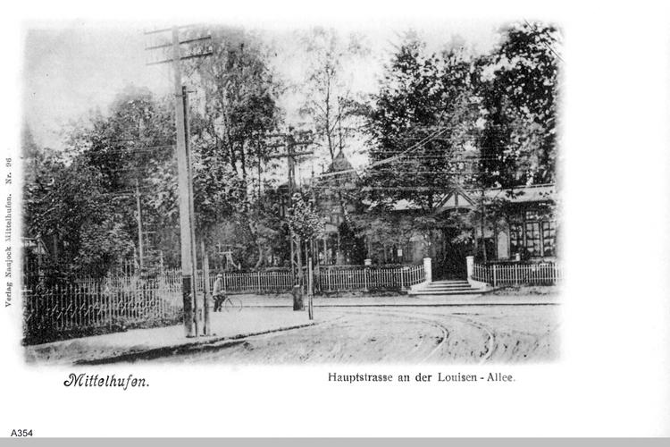 Königsberg, Hufen Allee an der Luisen-Allee