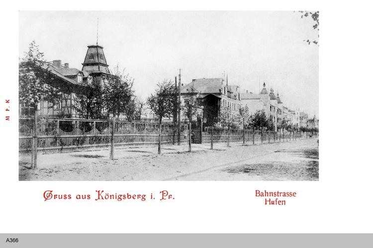 Königsberg, Hufen, Bahnstraße