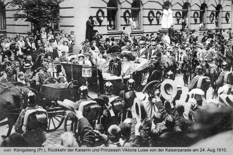 Königsberg, Kaiserparade 1910