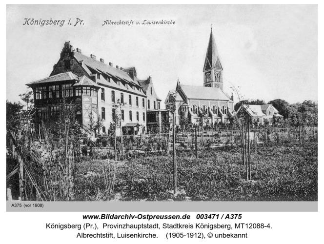 Königsberg, Albrechtstift, Luisenkirche