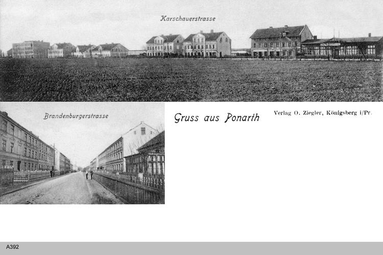 Königsberg, Ponarth, Karschauer- und Brandenburger Straße