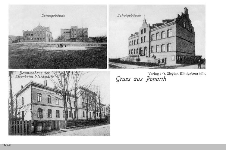 Königsberg, Ponarth, Schulgebäude, Beamtenhaus der Eisenbahnwerkstätte