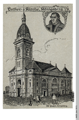 Königsberg, Lutherkirche Grafik