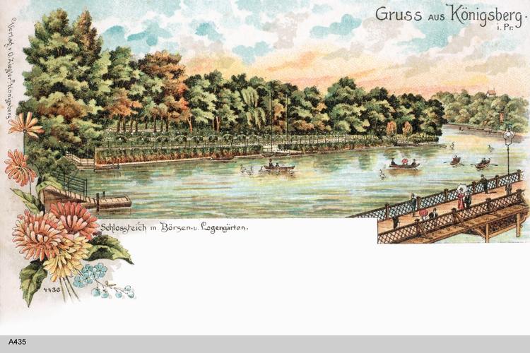 Königsberg, Logengärten gemalt