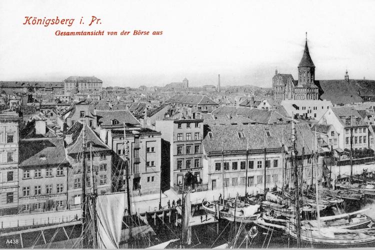Königsberg, Gesamtansicht von der Börse aus
