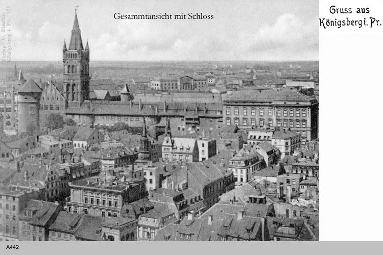 Königsberg, Blick auf das Schloß