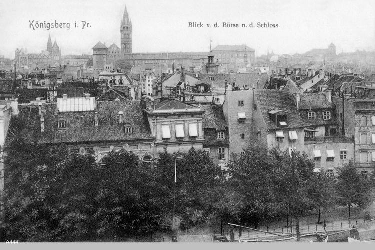 Königsberg, Blick von der Börse zum Schloß