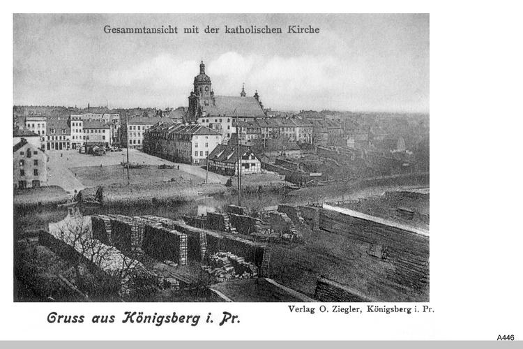 Königsberg, Neuer Markt und Katholische Kirche