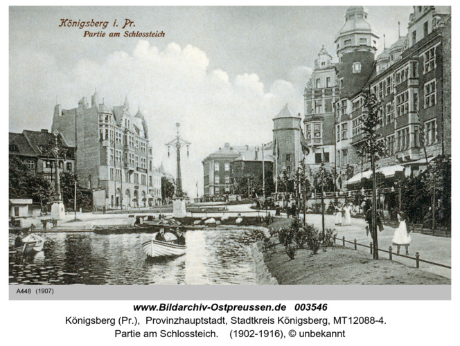 Königsberg, Partie am Schloßteich
