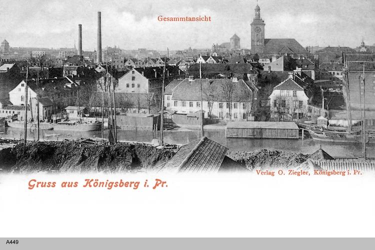 Königsberg, Blick über die Dächer