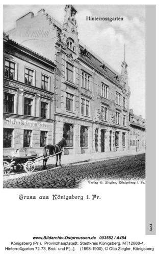 Königsberg, Hinterroßgarten