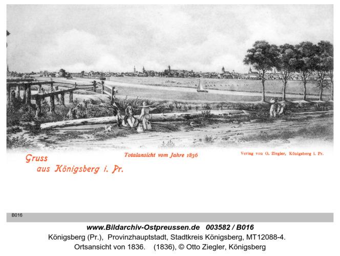 Königsberg, Totalansicht von 1836