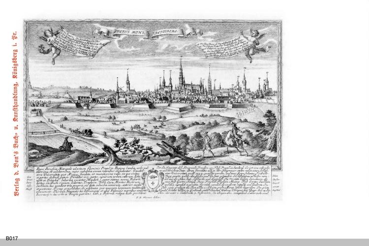 """Königsberg, Kunstdruck """"Regius Mons.Königsberg"""""""