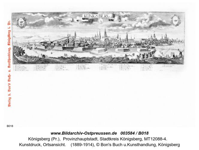 Königsberg, Kunstdruck, Totalansicht