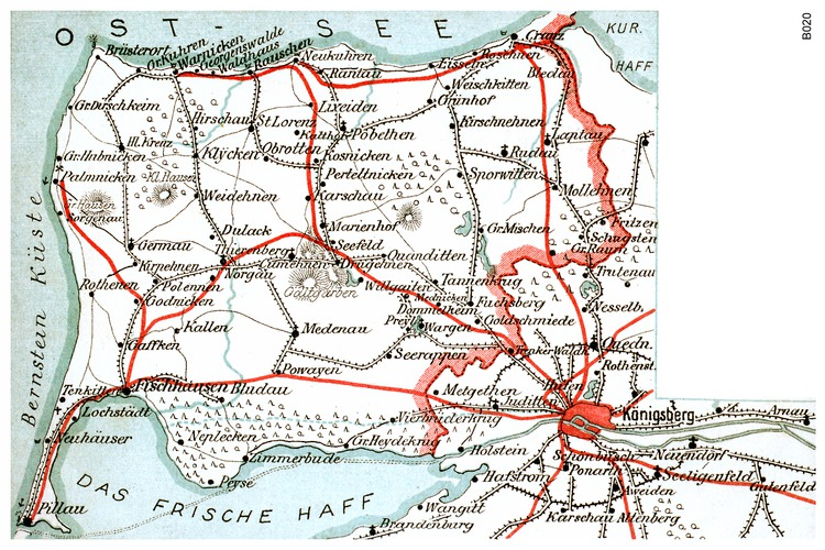 Königsberg, Samlandkarte