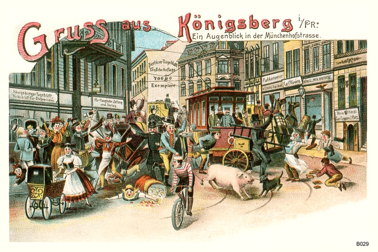 Königsberg, Juxkarte