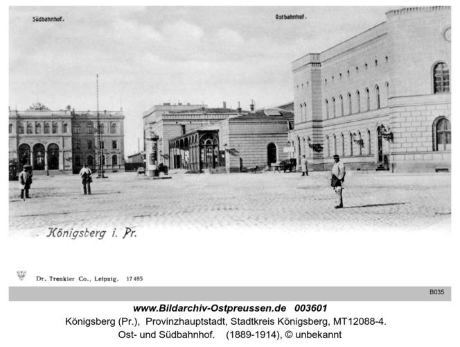 Königsberg, Ost- und Südbahnhof