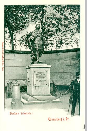 Königsberg, Schloßplatz, Friedrich I Denkmal