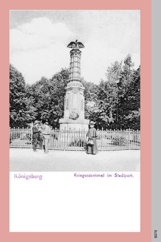 Königsberg, Kriegerdenkmal im Stadtpark