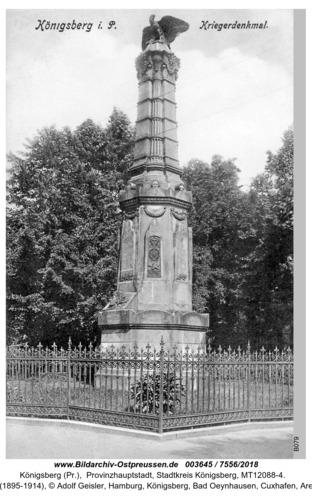 Königsberg, Kriegerdenkmal
