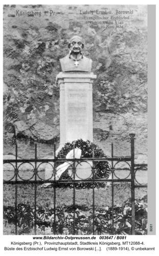 Königsberg, Denkmal des Erzbischof Borowski