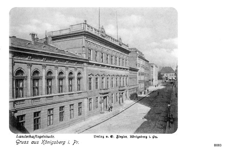Königsberg, Landschaftsgebäude