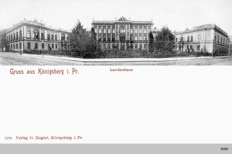 Königsberg, Landeshaus Panorama
