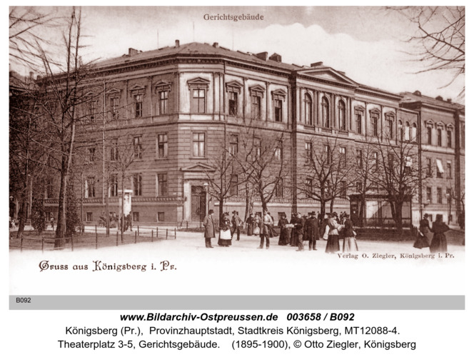 Königsberg, Gerichtsgebäude
