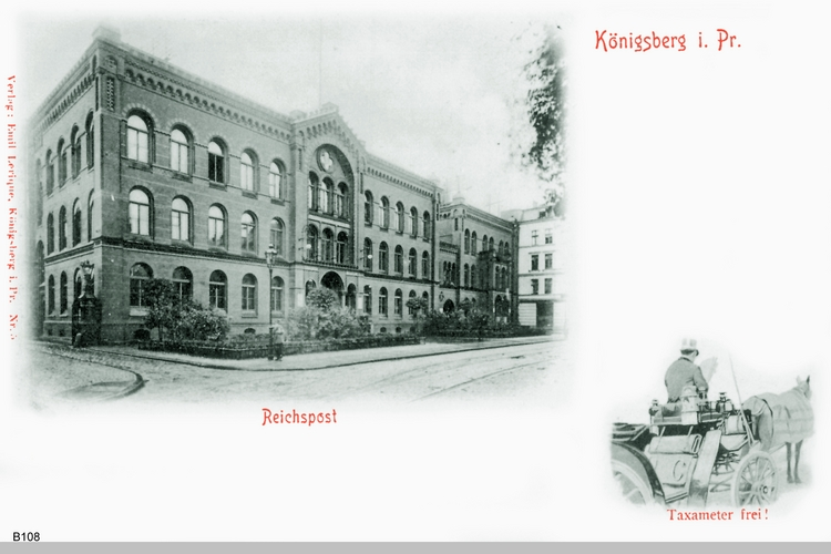 Königsberg, Reichspost