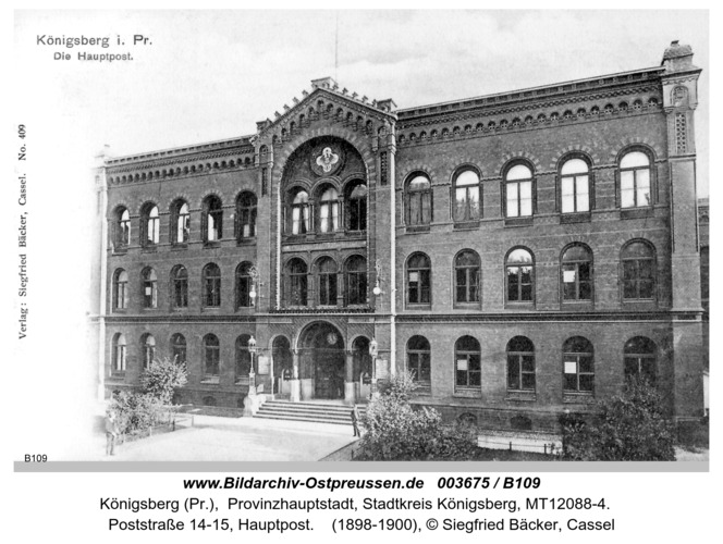Königsberg, Hauptpost