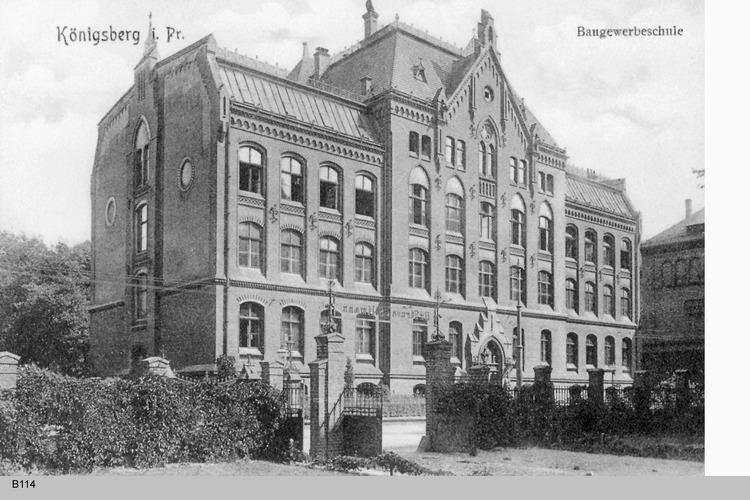 Königsberg, Baugewerkschule