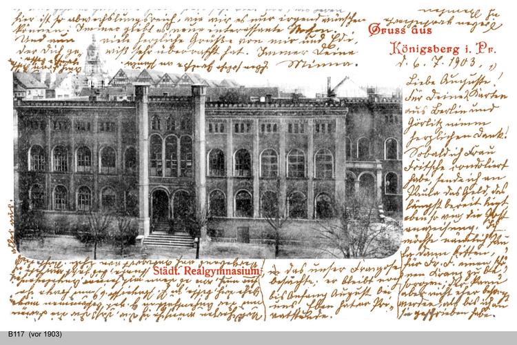 Königsberg, Städtisches Realgymnasium II (beschrieben)