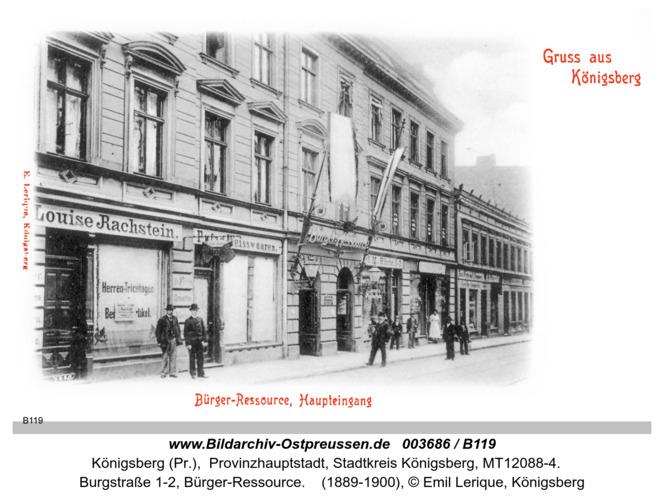 Königsberg, Bürger Ressource