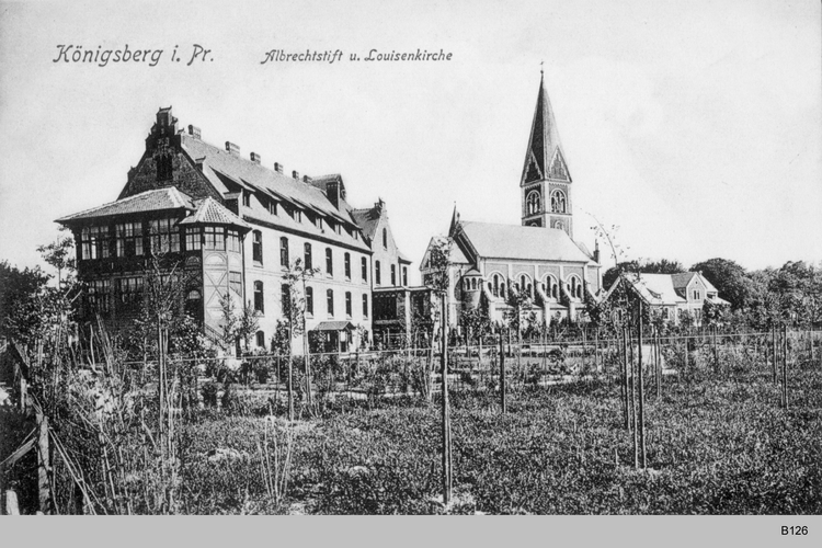 Königsberg, Albrechtstift und Louisenkirche