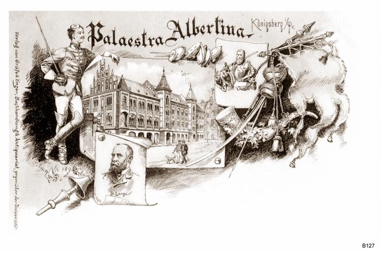Königsberg, Palaestra Albertina Graphik