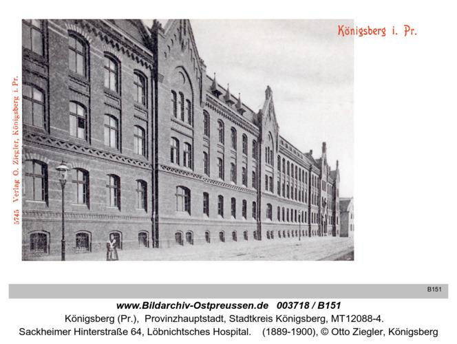 Königsberg, Löbnicht Hospital