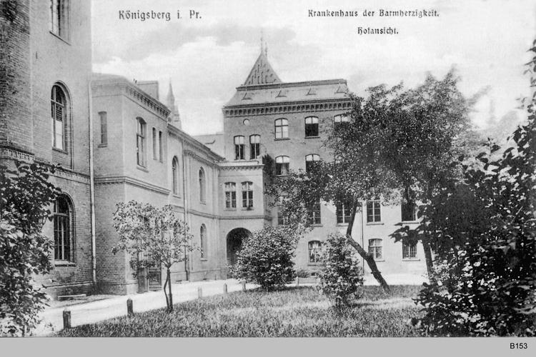 Königsberg, Krankenhaus der Barmherzigkeit Hofansicht
