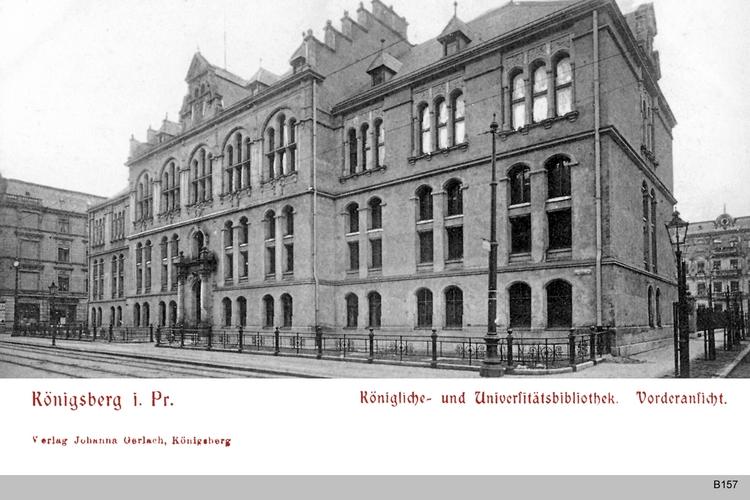 Königsberg, Königliche Universitätsbibliothek