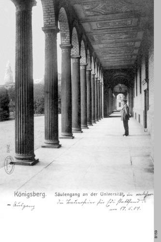Königsberg, Universität Säulengang