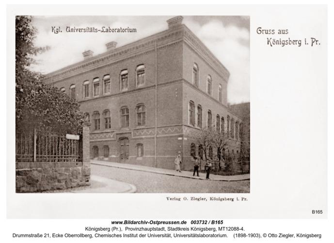 Königsberg, Königliches Universitätslaboratorium